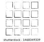 set of grunge black frames....   Shutterstock .eps vector #1468349339