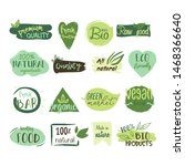 vector collection of eco  bio ... | Shutterstock .eps vector #1468366640
