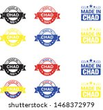 made in chad collection of... | Shutterstock .eps vector #1468372979