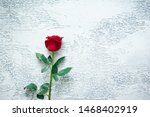 Red Roses On A Light Textured...