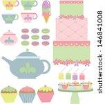 tea time treats | Shutterstock .eps vector #146841008
