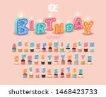 candle 3d sweet letters on a... | Shutterstock .eps vector #1468423733