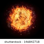 fire ball with free space for... | Shutterstock . vector #146842718