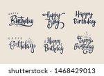 set of hand lettering happy...   Shutterstock .eps vector #1468429013