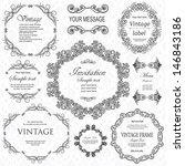vector set  calligraphic design ... | Shutterstock .eps vector #146843186