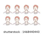 handsome guy with different... | Shutterstock .eps vector #1468440443