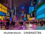 Blizzard Over Times Square In...