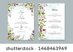 wedding invitation card with... | Shutterstock .eps vector #1468463969
