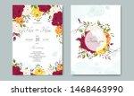 beautiful wedding invitation...   Shutterstock .eps vector #1468463990