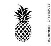 black pineapple icon isolated... | Shutterstock .eps vector #1468469783