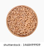 wheat in bowl on white... | Shutterstock . vector #1468499909