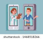 mobile telemedicine smartphone...   Shutterstock .eps vector #1468518266