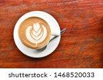 Coffee Cup With Latte Art Foam...