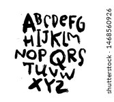 dry brush alphabet font set... | Shutterstock .eps vector #1468560926