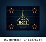 islamic eid ul adha mubarak... | Shutterstock .eps vector #1468576169