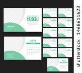 desk calendar 2019 template... | Shutterstock .eps vector #1468611623