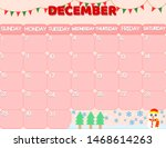 2019 december calendar.the... | Shutterstock .eps vector #1468614263