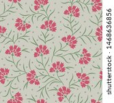 seamless floral pattern on... | Shutterstock .eps vector #1468636856