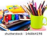 Office Stationary Isolated On...