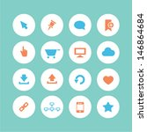 web icons set   flat style | Shutterstock .eps vector #146864684