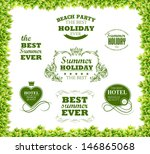 green leaves texture and ... | Shutterstock .eps vector #146865068