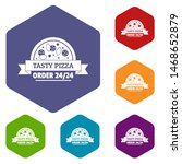 pizza order icons colorful...