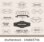 calligraphic design elements... | Shutterstock .eps vector #146865746