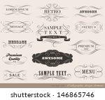 calligraphic design elements... | Shutterstock .eps vector #146865746