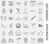 banquet icons set. outline... | Shutterstock . vector #1468681160