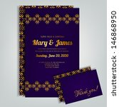 wedding invitation card | Shutterstock .eps vector #146868950