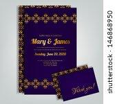 wedding invitation card | Shutterstock .eps vector #146868950