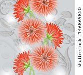 invitation or wedding card with ... | Shutterstock .eps vector #146869850