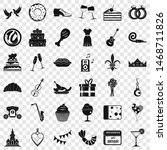 love banquet icons set. simple... | Shutterstock . vector #1468711826