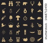 bear icons set. simple style of ...   Shutterstock . vector #1468712450