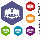 mushroom healthy icons colorful ... | Shutterstock . vector #1468714916