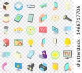 electricity screen icons set.... | Shutterstock . vector #1468717706