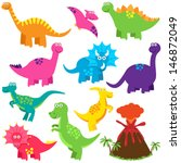vector collection of cute... | Shutterstock .eps vector #146872049