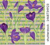 crocuses. crocus. beautiful... | Shutterstock .eps vector #1468734923