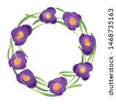 crocuses wreath. crocus.... | Shutterstock .eps vector #1468735163
