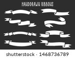 set of hand drawn ribbons  ... | Shutterstock .eps vector #1468736789