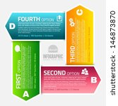 infographics template with... | Shutterstock .eps vector #146873870