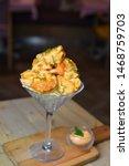 Small photo of food burger restaurant dynamite shrimp