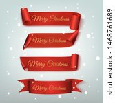 set of four red  merry... | Shutterstock .eps vector #1468761689