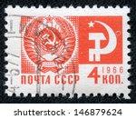 ussr   circa 1966  a stamp... | Shutterstock . vector #146879624