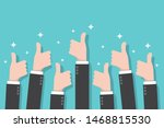 hands with thumb up. good... | Shutterstock .eps vector #1468815530