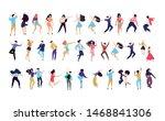 crowd of young people dancing... | Shutterstock .eps vector #1468841306