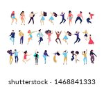 crowd of young people dancing...   Shutterstock .eps vector #1468841333