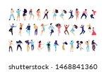 crowd of young people dancing... | Shutterstock .eps vector #1468841360
