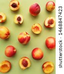 peaches on a green background... | Shutterstock . vector #1468847423