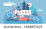 carbs vector illustration. flat ... | Shutterstock .eps vector #1468857629